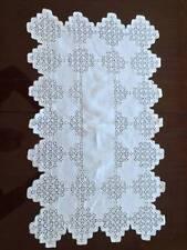 Vintage Linen Italian Needle Lace Table Runner Maltese Cross Circa 1900-20 Webs