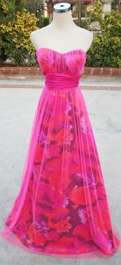 NWT MORGAN & CO  Fuchsia   Multi Prom Party Gown 7