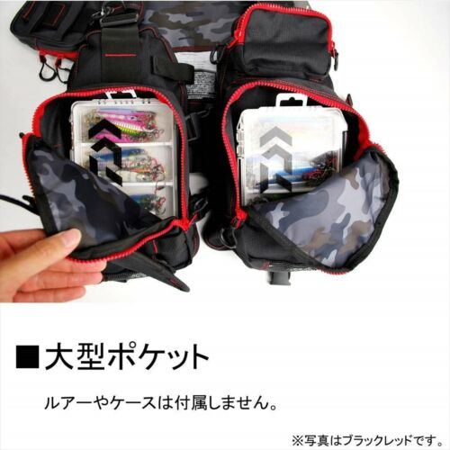 Daiwa FLOAT GAME VEST Black Red Free Size DF-6206 Japan NEW