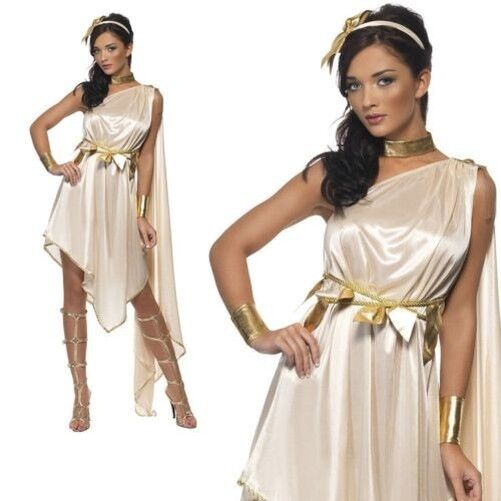 Fever Greek Goddess Roman Toga Grecian womens ladies fancy dress costume