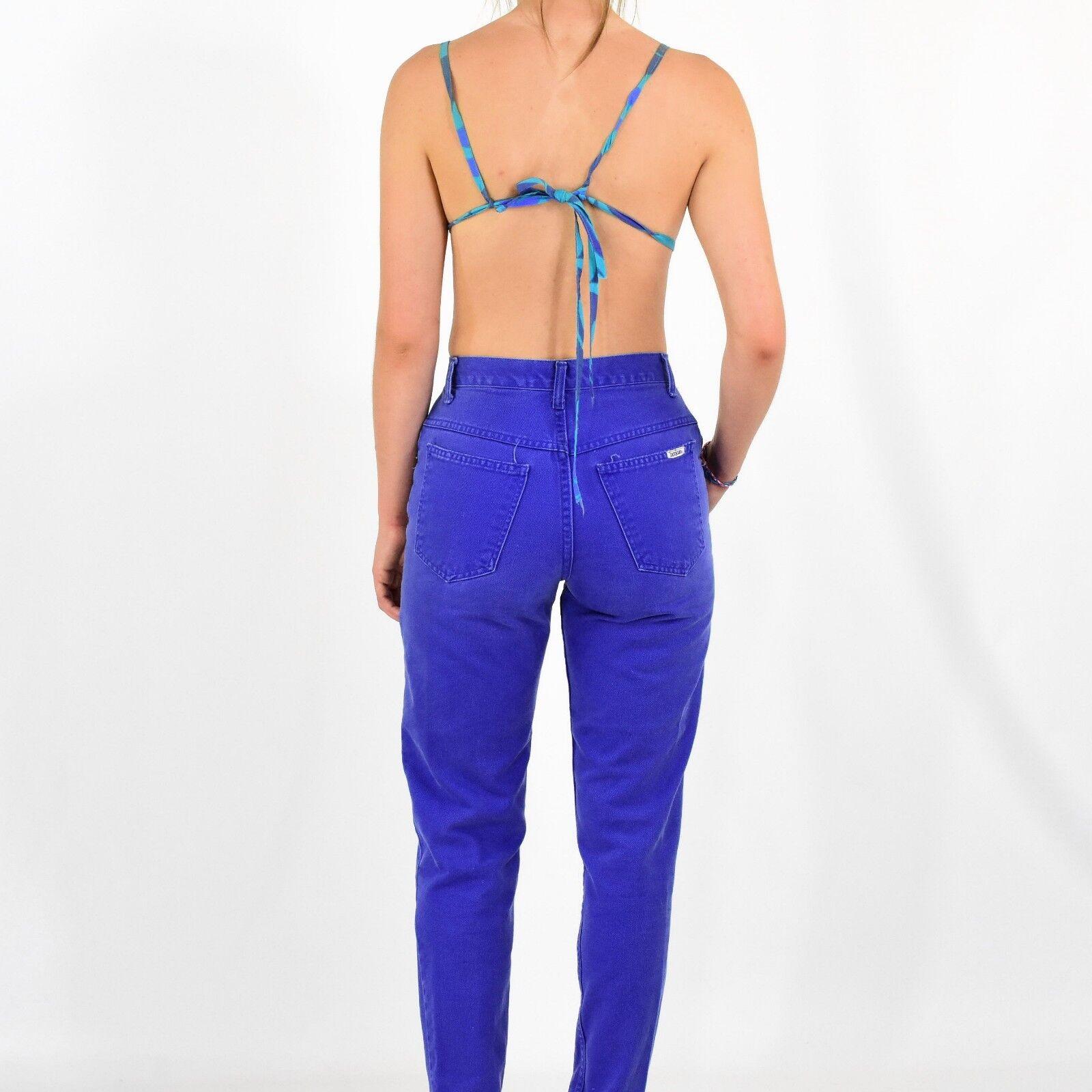 1940's Vintage Bikini Top Blue & Purple Size XS 3… - image 4