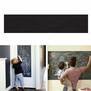 Effacable-Tableau-Noir-Autocollant-Amovible-Tableau-Noir-Mur-Autocollants-Peinture-Murale-HOME-DECAL