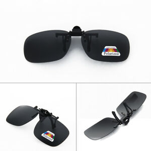 2ca57ba1113 New Polarized Lenses Flip-Up Clip On Sunglasses UV400 Driving ...
