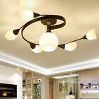 6Lights Modern LED Glass Ceiling Pendant Lamp Lighting Chandelier E27 Livingroom