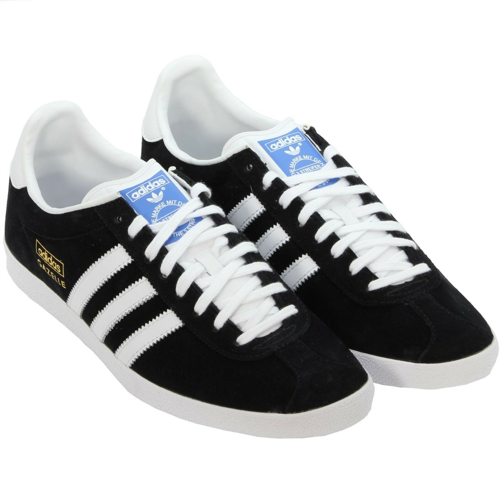admiración asqueroso Deudor  GENUINE ADIDAS ORIGINALS GAZELLE MENS TRAINERS BLACK NUBUCK SUEDE UK SIZE 7  - 11 for sale online
