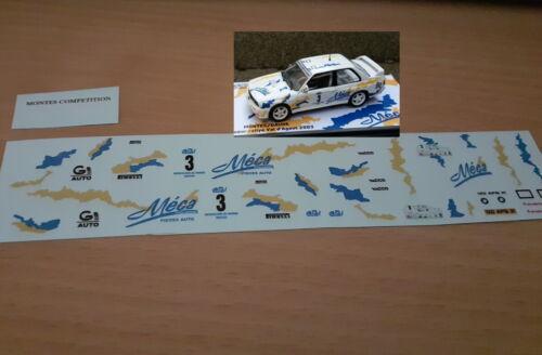 decal 1//43 BMW M3 Montes vainqueur rallye val d/'agout 2003