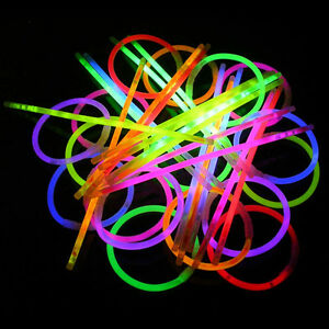 Glo-Glow-Sticks-Bracelets-15-Glow-In-The-Dark-Party-Rave-Necklace-Light-Up-Fun