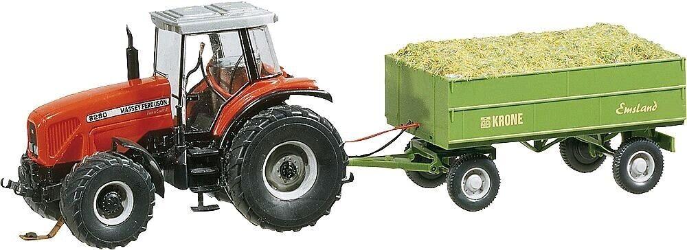 Faller 161536 tractor MF con remolque