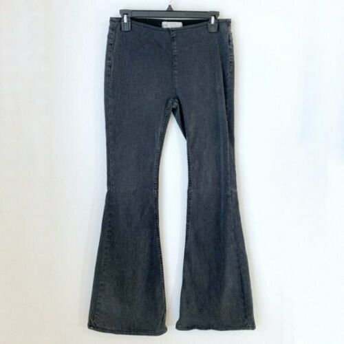 Free People Women's Gray Flare Leg Jeans Bell Bott