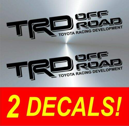 2 TRD Off Road Toyota Tacoma Tundra Pair Decals Sticker Truck bedside vinyl