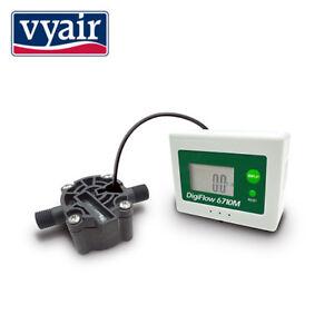 Débitmètre Vyair Digital LCD (comptage supérieur) 0,05 - 1,0 L / min: 1/4 Vyair Digital Lcd Water Flow Meter (count Up) 0.05 - 1.0 L/min: 1/4
