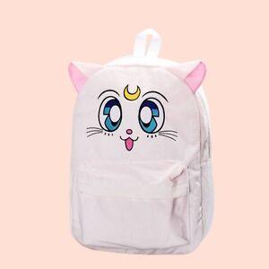 Blanc Luna Filles Cat À Sailor Sac Dos Harajuku Modèle Voiture Collectibles Sac Moon De wTERqnX