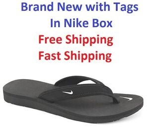 New-NIKE-CELSO-BLACK-FLIP-FLOP-in-Original-Box-WOMEN-Size-5-11-SHIPS-SAME-DAY
