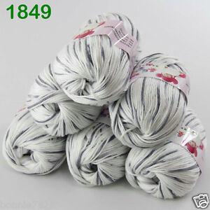 Sale-6-ballsx-50gr-DK-Baby-Soft-Cashmere-Silk-Wool-hand-knitting-Crochet-Yarn-49