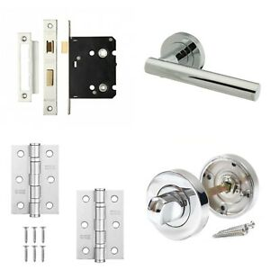 Image Is Loading Rosetta Internal Chrome Door Handle Sets Latch Lock