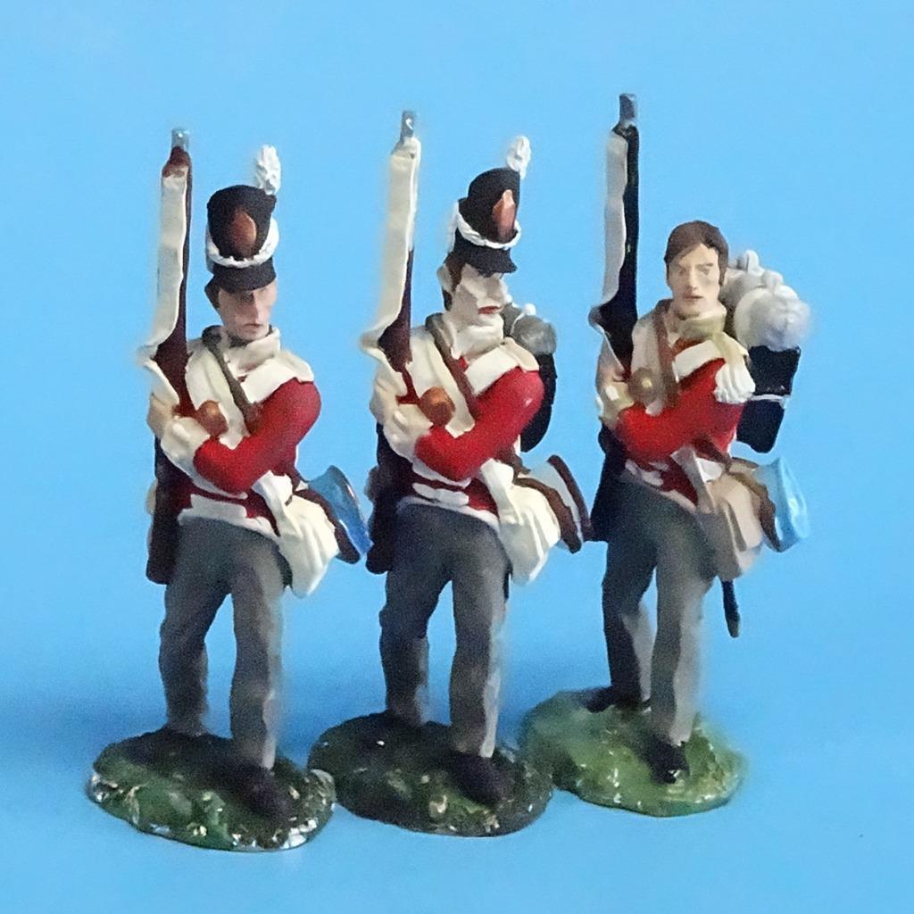 CORD-N0135 - British Infantry - Port Arms (3 Pieces) - Napoleonics