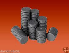 50 MAGNETI a Disco Rotondo 16mm x 3mm in ceramica del disco in FERRITE CALAMITE Per Craft & Frigo