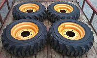 4 10x16.5 Skid Steer Tires & Rims For Case - 6 Or 8 Lug - 10-16.5 - 10 Ply