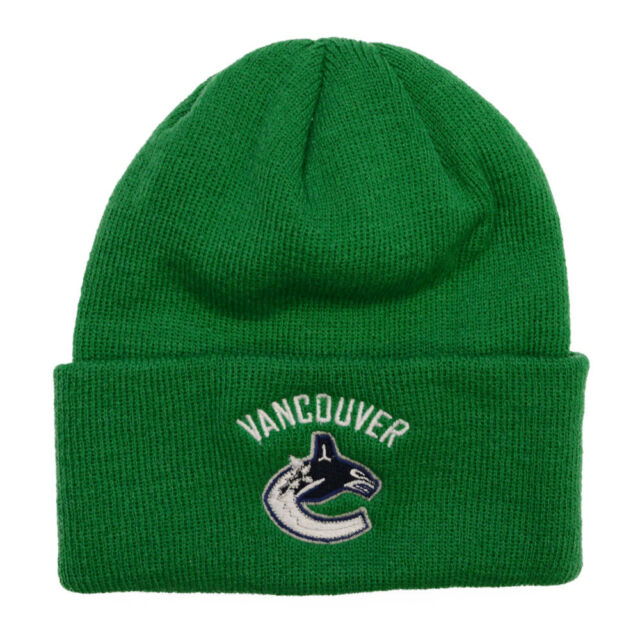 f8dd54d8668 Vancouver Canucks 2017 NHL Basics Reebok Cuffed Knit Hat