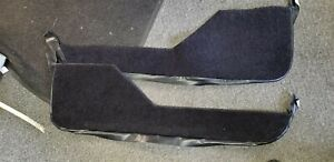84 89 Corvette C4 Door Panel Carpet Trim Strips With Vinyl New Black Ebay