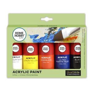 HomeHobby-Acrylic-Paint-5-Bottles-75ml