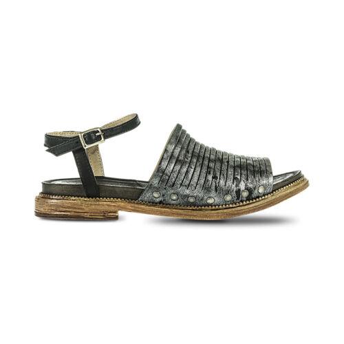 FABBRICA DEI COLLI sandalo donna nero pelle tacco cm 2 mod 1TATO102