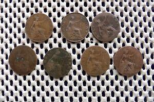 Edward VII. Demi Penny 1902, 1903, 1904, 1905, 1908, 1909, 1910.