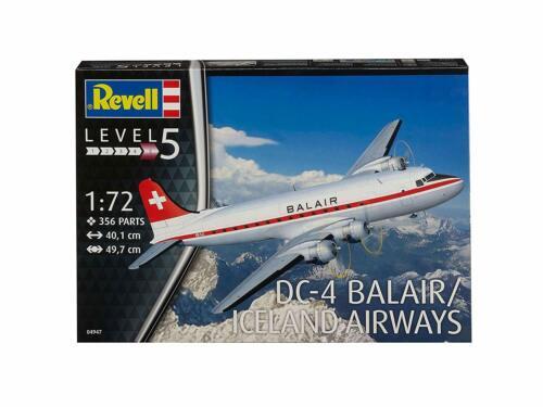 REVELL MAQUETTE AVION DC-4 BALAIR ICELAND AIRWAYS 1:72 LEVEL5 04947