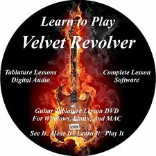 Velvet Revolver Guitar TAB Tablature Lesson CD 33 Songs + Back Tracks + BONUS!