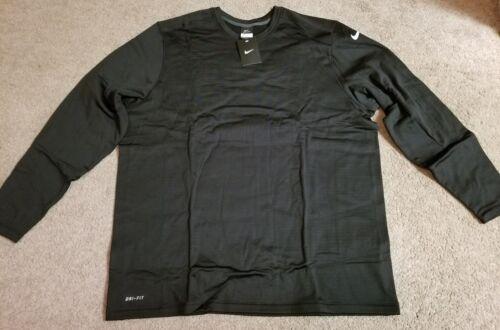 Black 2X 677348-010 NIKE LS Practice Crew Sweatshirt