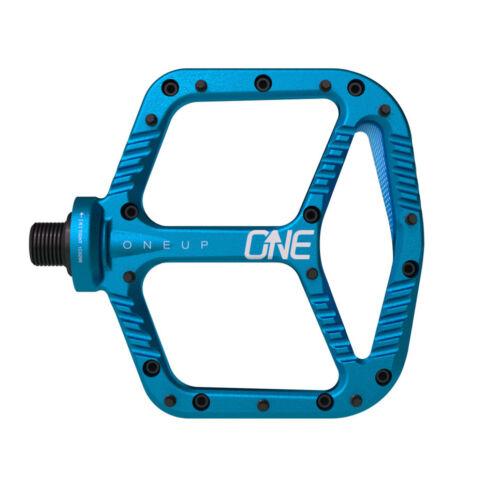 OneUp Components Aluminum Platform Flat MTB Mountain Bike Pedals Blue