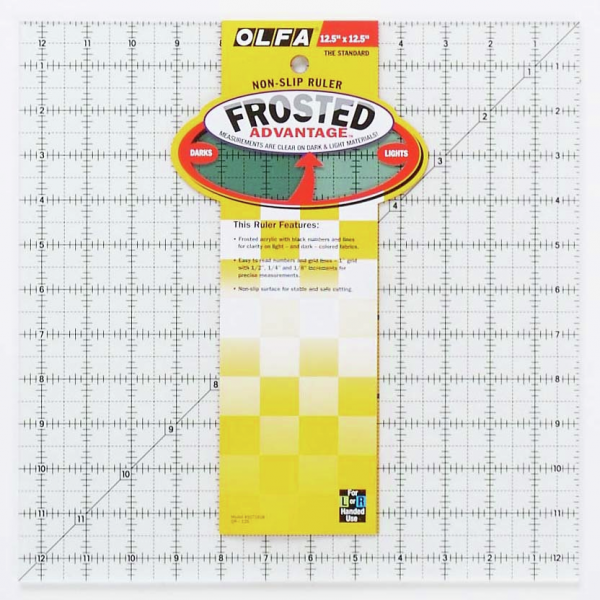 Quilting Ruler non slip 4 1//2 x 4 1//2 inch LS-4545 Yellow Le Summit Patchwork