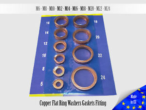 30x-1-5mm-Multiple-Metric-Copper-Flat-Ring-Oil-Drain-Plug-Crush-Washer-Gaskets