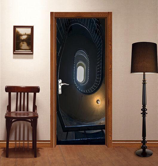 3D Treppen Tür Wandmalerei Wandaufkleber Aufkleber AJ WALLPAPER DE Kyra