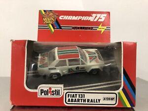 Polistil Policar Slot Car 131 Abarth Rally Hp 1/32 Nuova Dans La Boîte