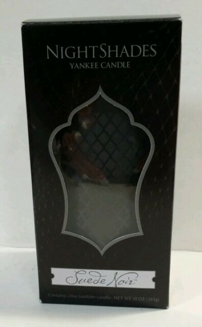 Yankee Candle Suede Noir 10 Oz. Tumbler Jar Candle New !