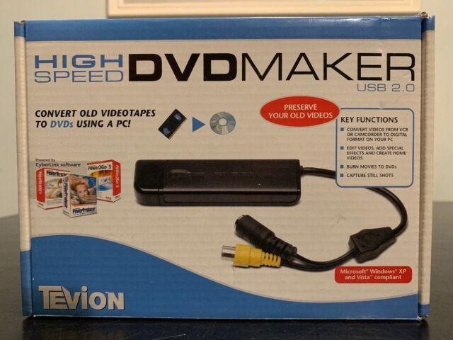 TEVION HIGH SPEED DVD MAKER USB 2.0 DRIVER FOR WINDOWS