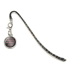 Serenity Prayer - Metal Bookmark Page Marker with Charm
