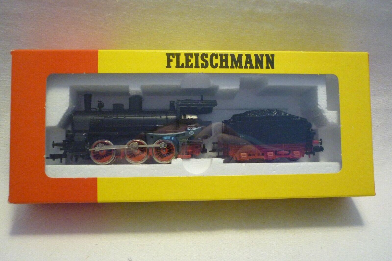 FLEISCHMANN - SPUR H0 - 4124 DAMPFLOK MIT TENDER - DR 53 316 - OVP (10.EI-80)
