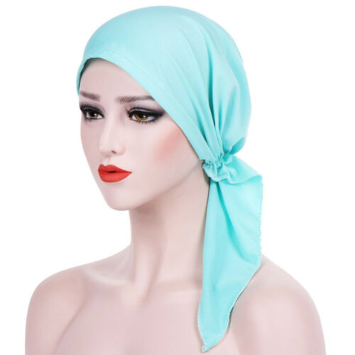 Women Ladies Head Scarf Chemo Hat Turban Pre-Tied Headwear Bandana Tichel Cancer