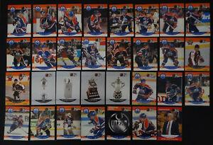 1990-91-Pro-Set-Edmonton-Oilers-Team-Set-of-34-Hockey-Cards-Missing-4-Cards