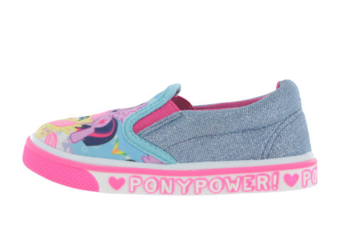 MLP My Little Pony Casual Canvas Blue Glitter Sparkle Shoes UK Sizes 6-12