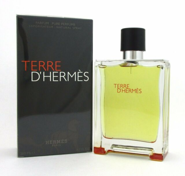 Terre D'Hermes Cologne by Hermes, 6.7 oz Pure Parfum Spray for Men NEW