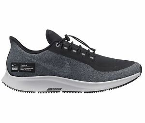 ff5b7a08b28e9 Nike Air Zoom Pegasus 35 Shield Mens AA1643-001 Black Grey Run Shoes ...