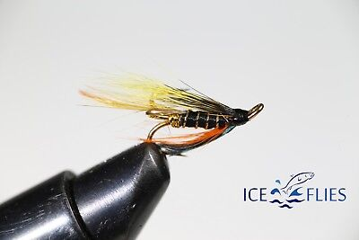 3-pack Salmon Fly,Undertaker Pick a size Fly Fishing Fly Double Hook.