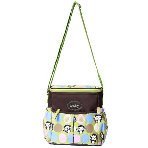 Monkey Pattern Mummy Changing Bag Baby Maternity Nappy Diaper Shoulder Bag
