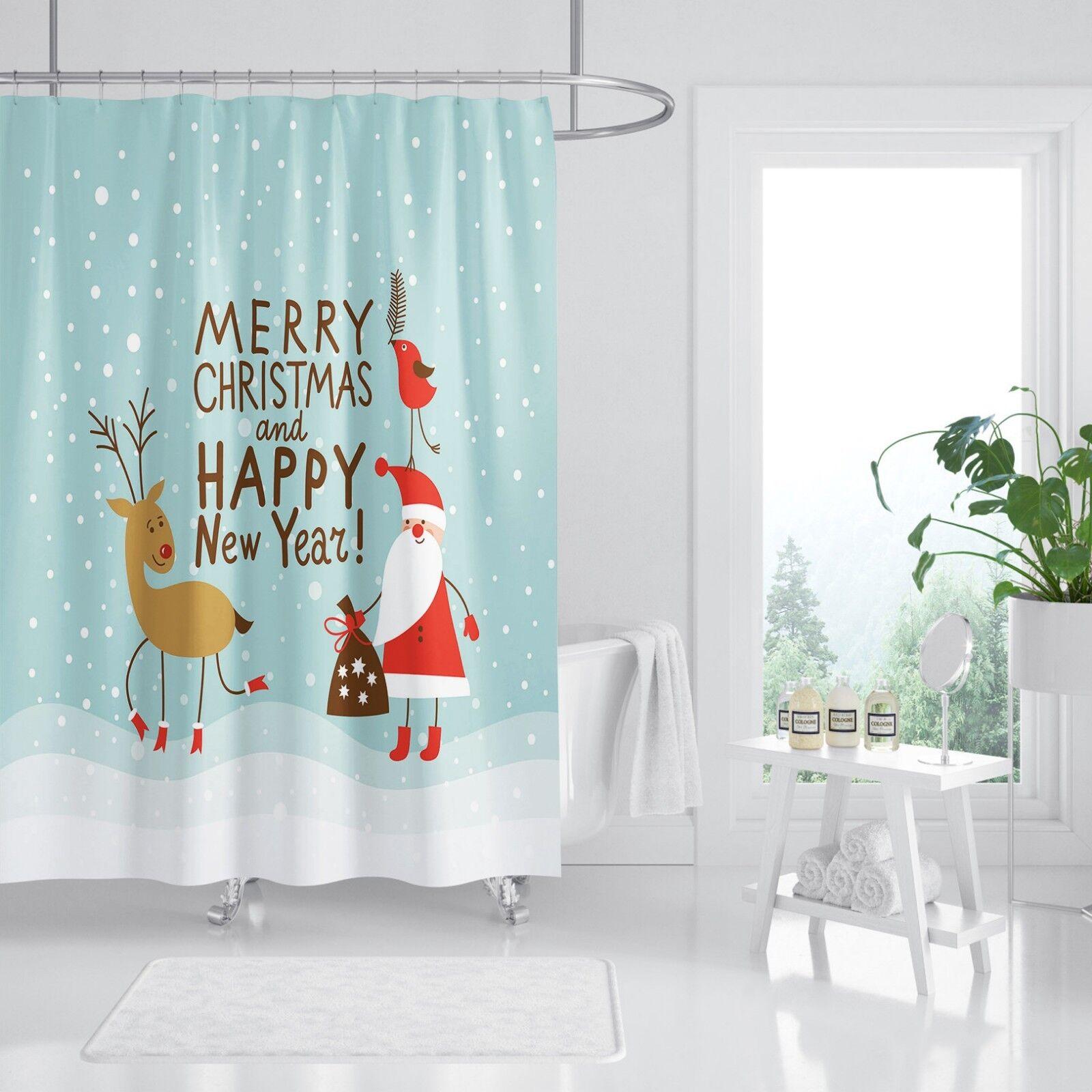 3D Weihnachtsmann Weihnachtsmann Weihnachtsmann 8 Duschvorhang Wasserdicht Faser Bad Daheim Windows Toilette | Deutschland Frankfurt  | Trendy  e4104d