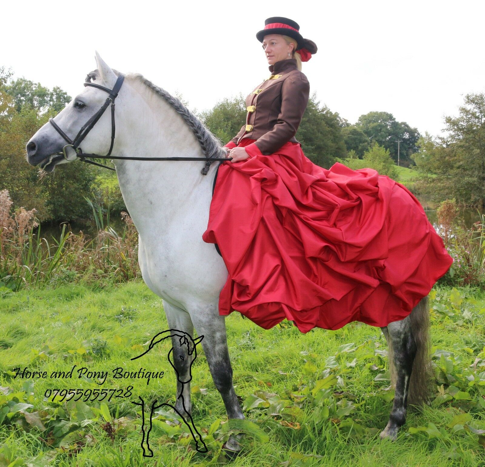 Equestrian Concours d'elegance, Brown and red concours  MADE TO ORDER