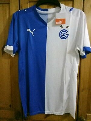 Grasshopper Club Zurich home football shirt size M Puma Brand New