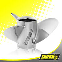 Turbo 1 13 1/4 X 13 Stainless Steel Propeller For Yamaha 50 - 130hp